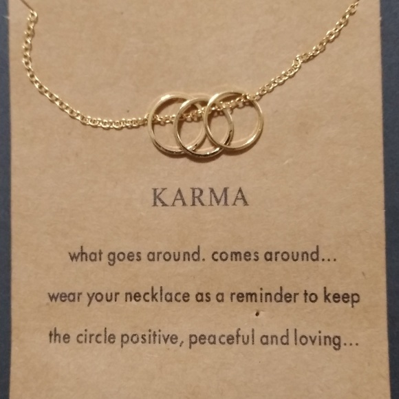 💎Gold Dipped Triple Hoop Karma Necklace Boutique